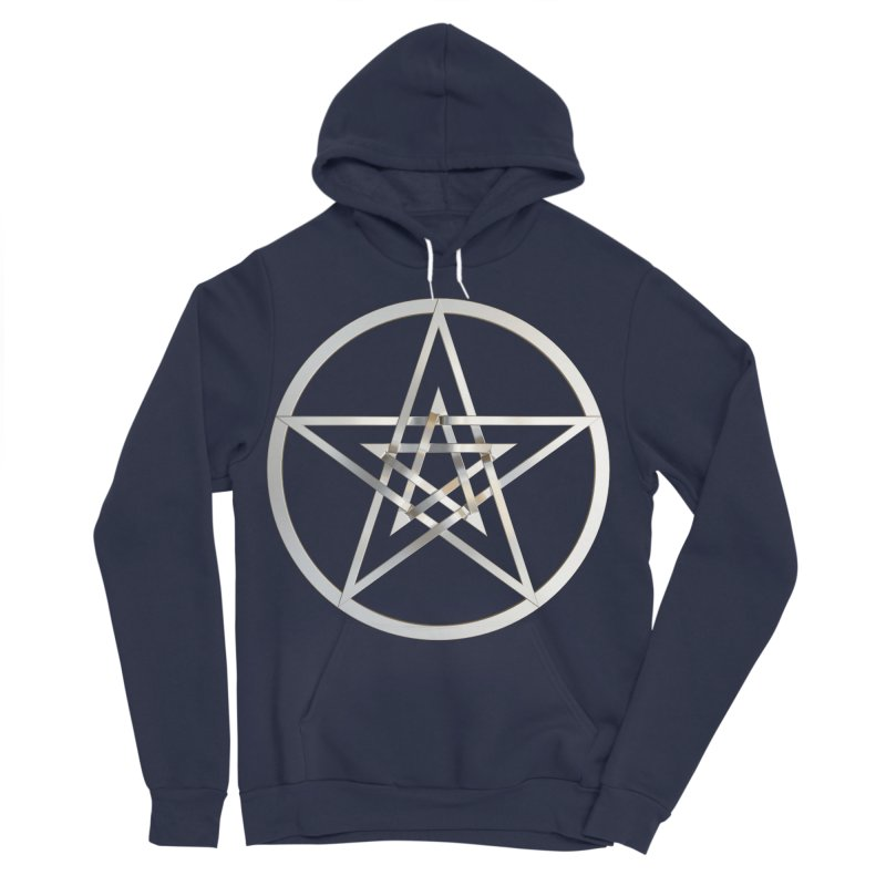 Double Pentacles Silver Men's Sponge Fleece Pullover Hoody by diamondheart's Artist Shop