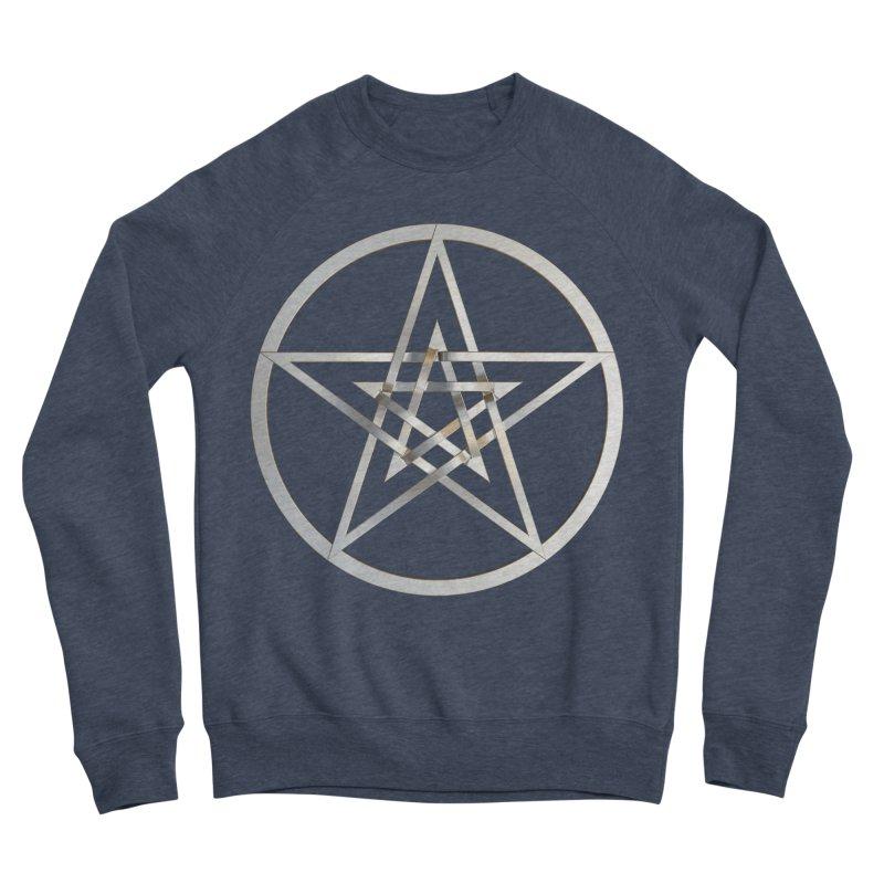Double Pentacles Silver Men's Sponge Fleece Sweatshirt by diamondheart's Artist Shop