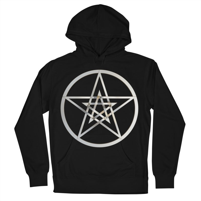 Double Pentacles Silver Women's French Terry Pullover Hoody by diamondheart's Artist Shop