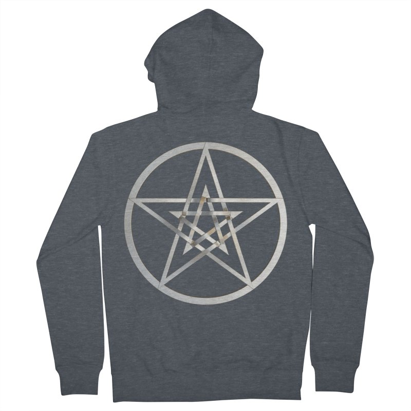 Double Pentacles Silver Women's French Terry Zip-Up Hoody by diamondheart's Artist Shop