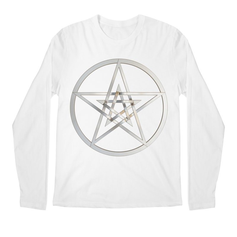 Double Pentacles Silver Men's Regular Longsleeve T-Shirt by diamondheart's Artist Shop
