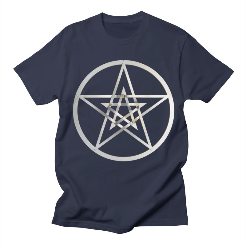 Double Pentacles Silver Women's Regular Unisex T-Shirt by diamondheart's Artist Shop