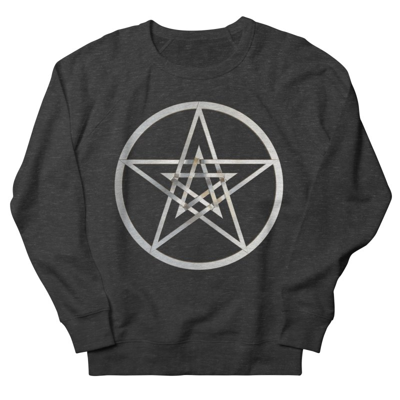 Double Pentacles Silver Women's French Terry Sweatshirt by diamondheart's Artist Shop