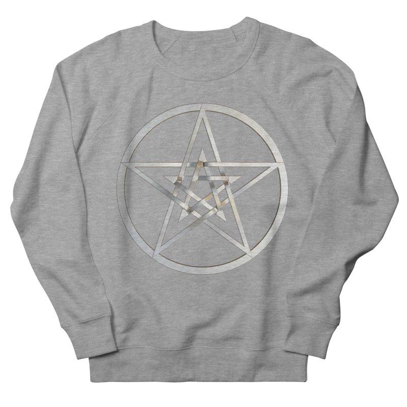 Double Pentacles Silver Men's French Terry Sweatshirt by diamondheart's Artist Shop