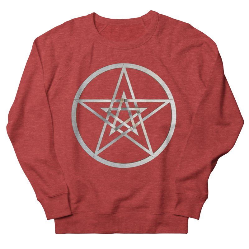 Double Pentacles Silver Men's French Terry Sweatshirt by diamondheart's Artist Shop