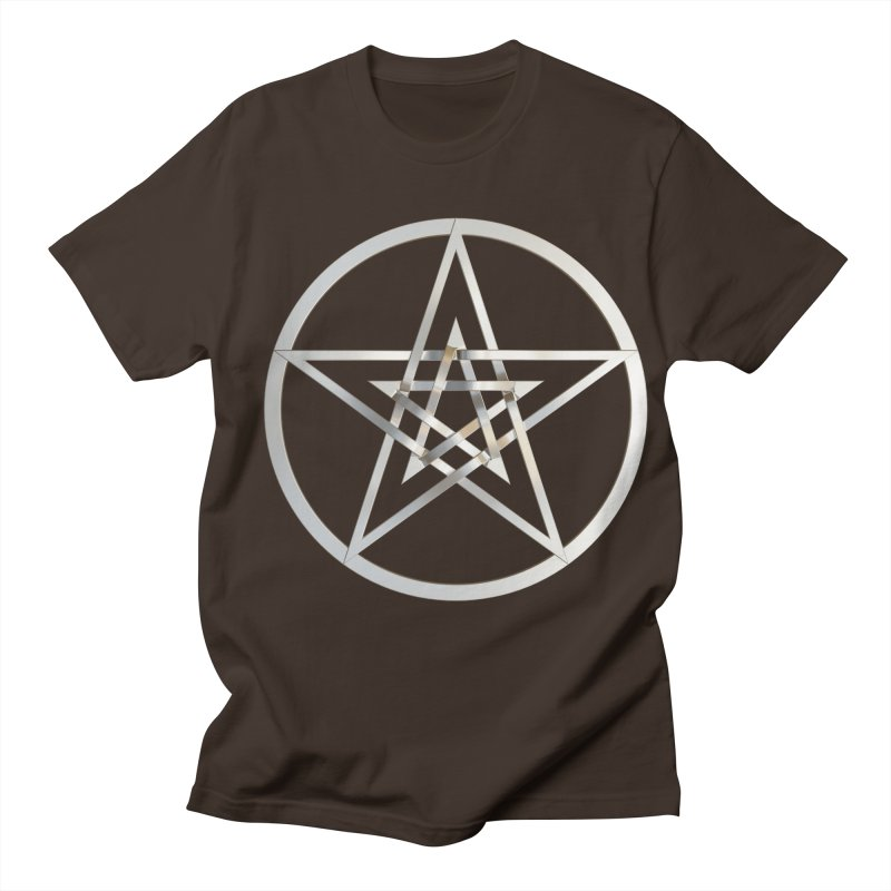 Double Pentacles Silver Men's Regular T-Shirt by diamondheart's Artist Shop