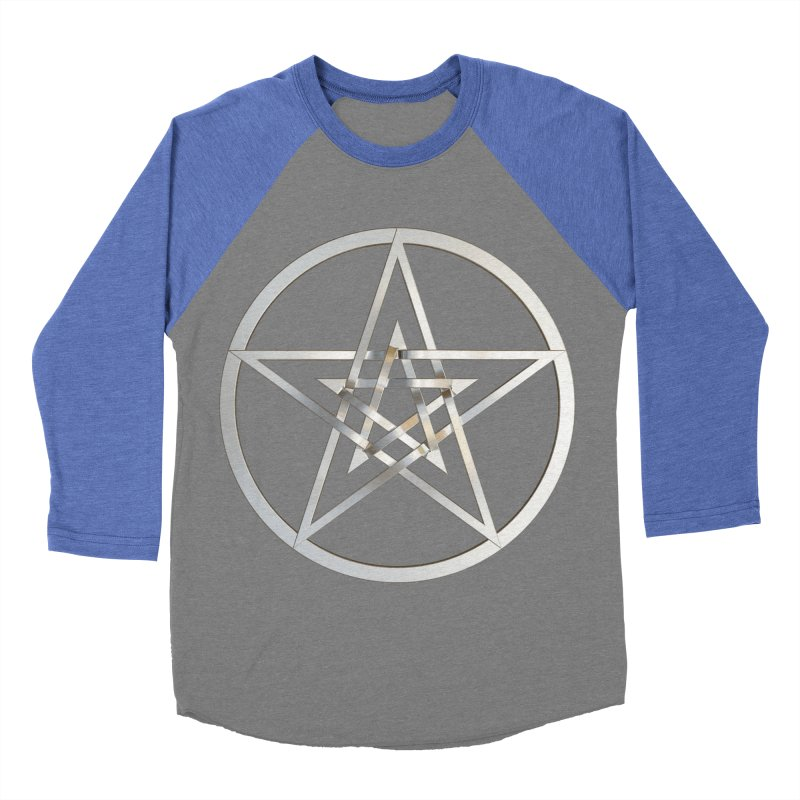 Double Pentacles Silver Women's Baseball Triblend Longsleeve T-Shirt by diamondheart's Artist Shop