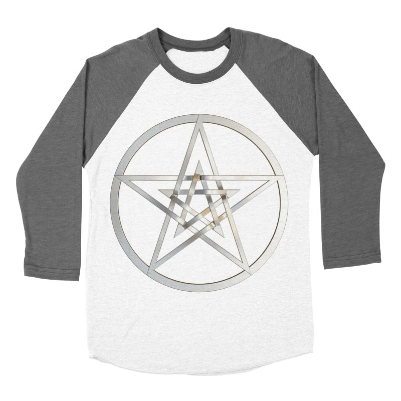 Double Pentacles Silver Men's Baseball Triblend Longsleeve T-Shirt by diamondheart's Artist Shop