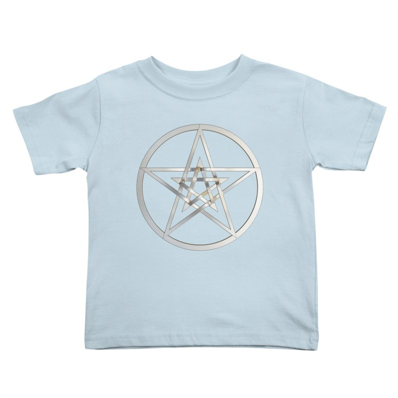 Double Pentacles Silver Kids Toddler T-Shirt by diamondheart's Artist Shop