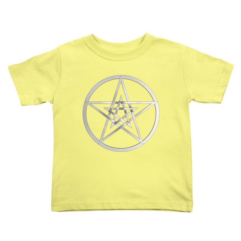 Double Pentacles Silver Kids Toddler T-Shirt by diamondheart's Artist Shop
