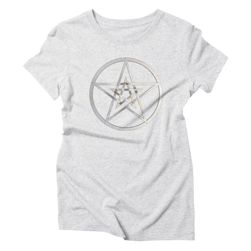 Double Pentacles Silver Women's T-Shirt by diamondheart's Artist Shop