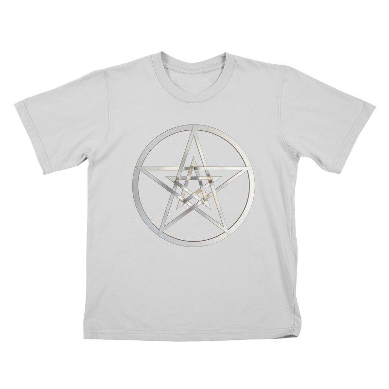 Double Pentacles Silver Kids T-Shirt by diamondheart's Artist Shop