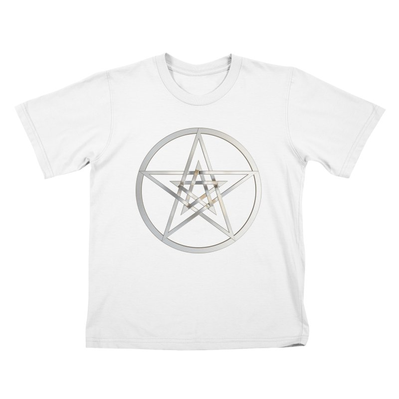 Double Pentacles Silver Kids T-Shirt by diamondheart's Artist Shop