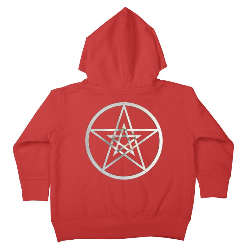 Double Pentacles Silver Kids Toddler Zip-Up Hoody by diamondheart's Artist Shop