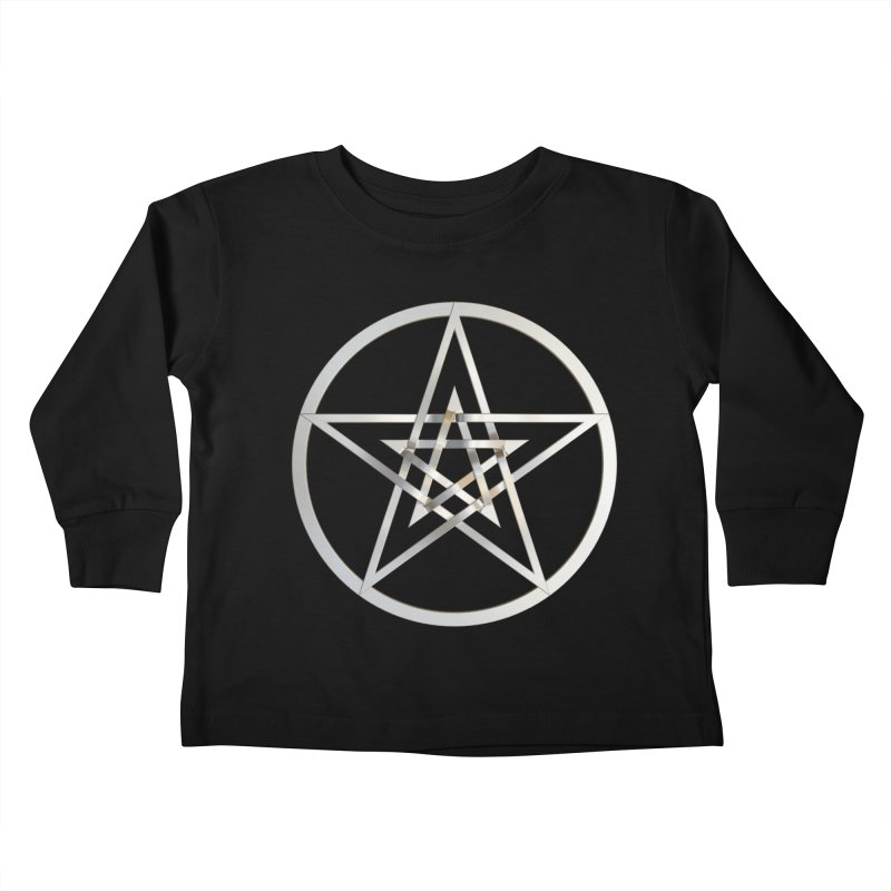 Double Pentacles Silver Kids Toddler Longsleeve T-Shirt by diamondheart's Artist Shop