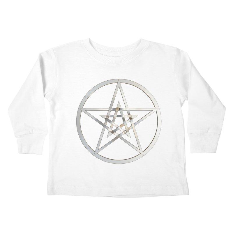 Double Pentacles Silver Kids Toddler Longsleeve T-Shirt by diamondheart's Artist Shop