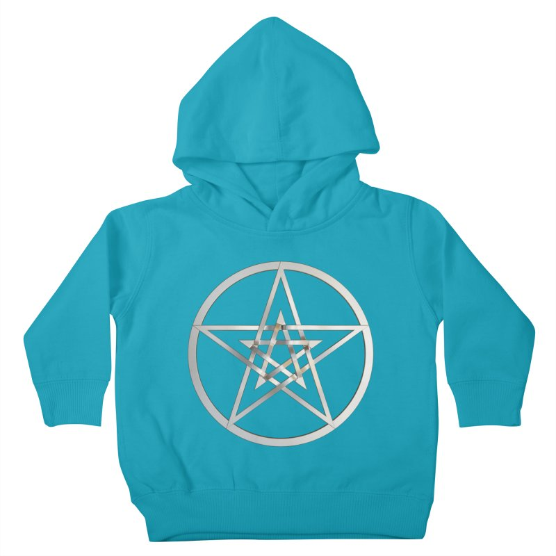 Double Pentacles Silver Kids Toddler Pullover Hoody by diamondheart's Artist Shop