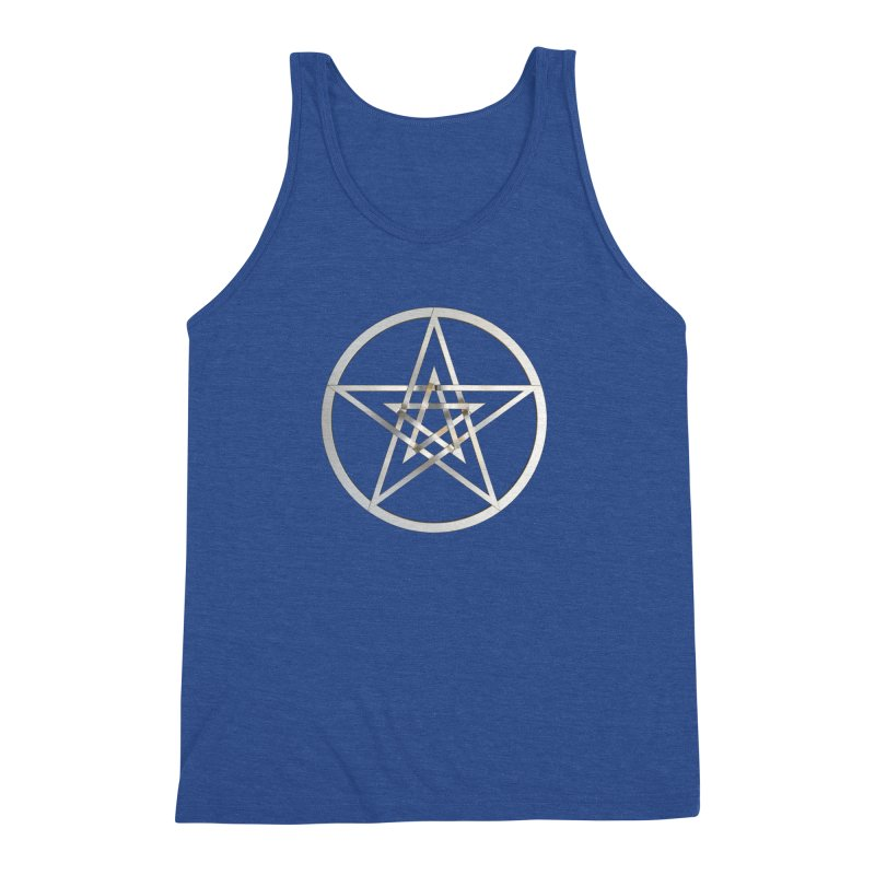 Double Pentacles Silver Men's Tank by diamondheart's Artist Shop