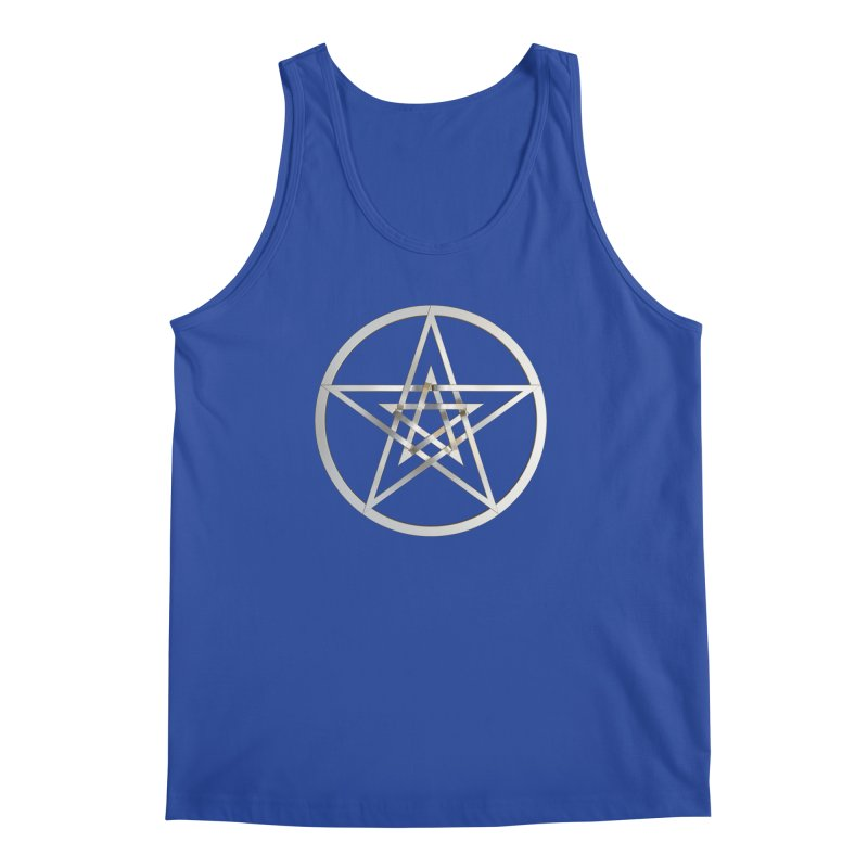 Double Pentacles Silver Men's Regular Tank by diamondheart's Artist Shop