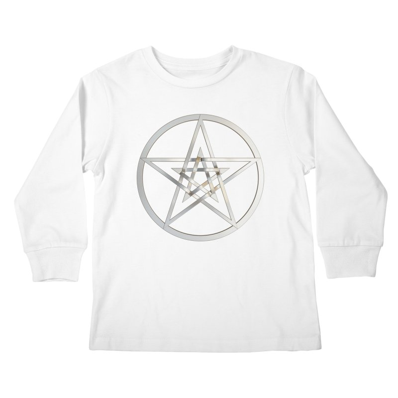 Double Pentacles Silver Kids Longsleeve T-Shirt by diamondheart's Artist Shop