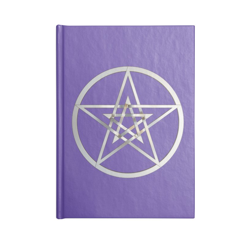 Double Pentacles Silver Accessories Blank Journal Notebook by diamondheart's Artist Shop
