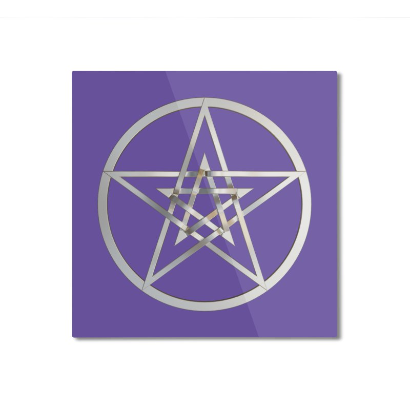 Double Pentacles Silver Home Mounted Aluminum Print by diamondheart's Artist Shop