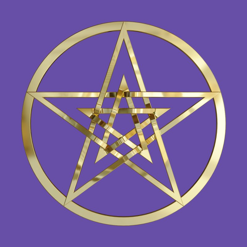 Double Pentacles Gold by diamondheart's Artist Shop