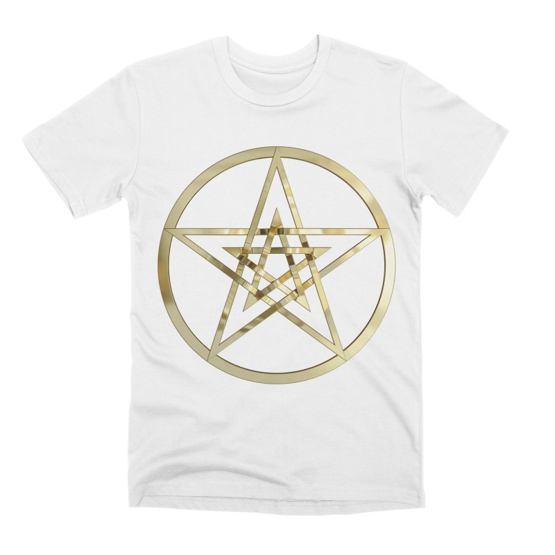 Double Pentacles Gold Men's Premium T-Shirt by diamondheart's Artist Shop