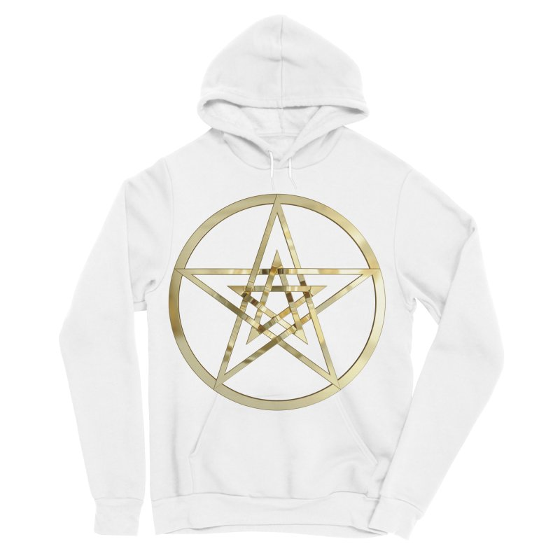 Double Pentacles Gold Men's Sponge Fleece Pullover Hoody by diamondheart's Artist Shop