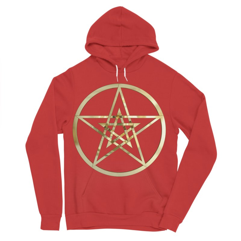 Double Pentacles Gold Women's Pullover Hoody by diamondheart's Artist Shop