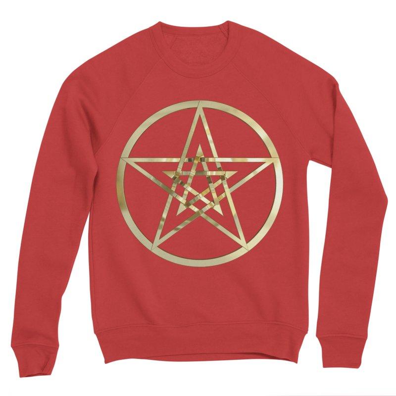Double Pentacles Gold Women's Sponge Fleece Sweatshirt by diamondheart's Artist Shop