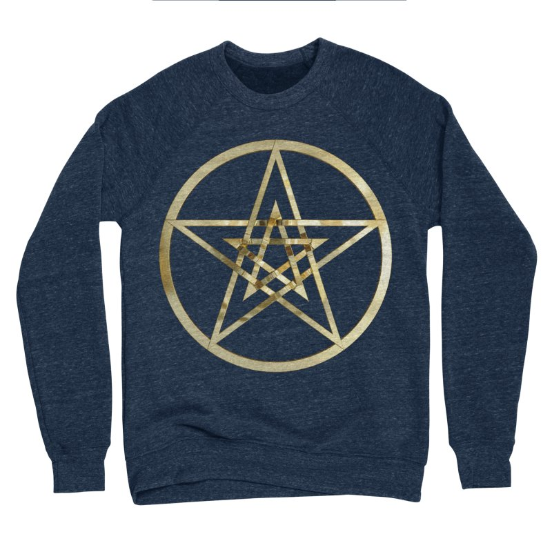 Double Pentacles Gold Men's Sponge Fleece Sweatshirt by diamondheart's Artist Shop