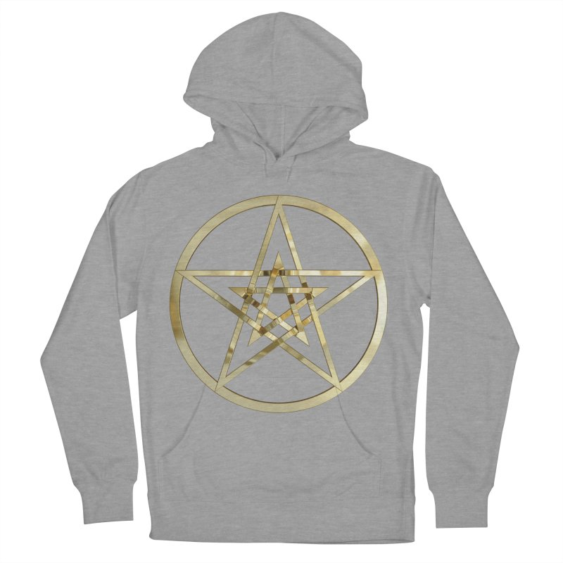 Double Pentacles Gold Women's French Terry Pullover Hoody by diamondheart's Artist Shop