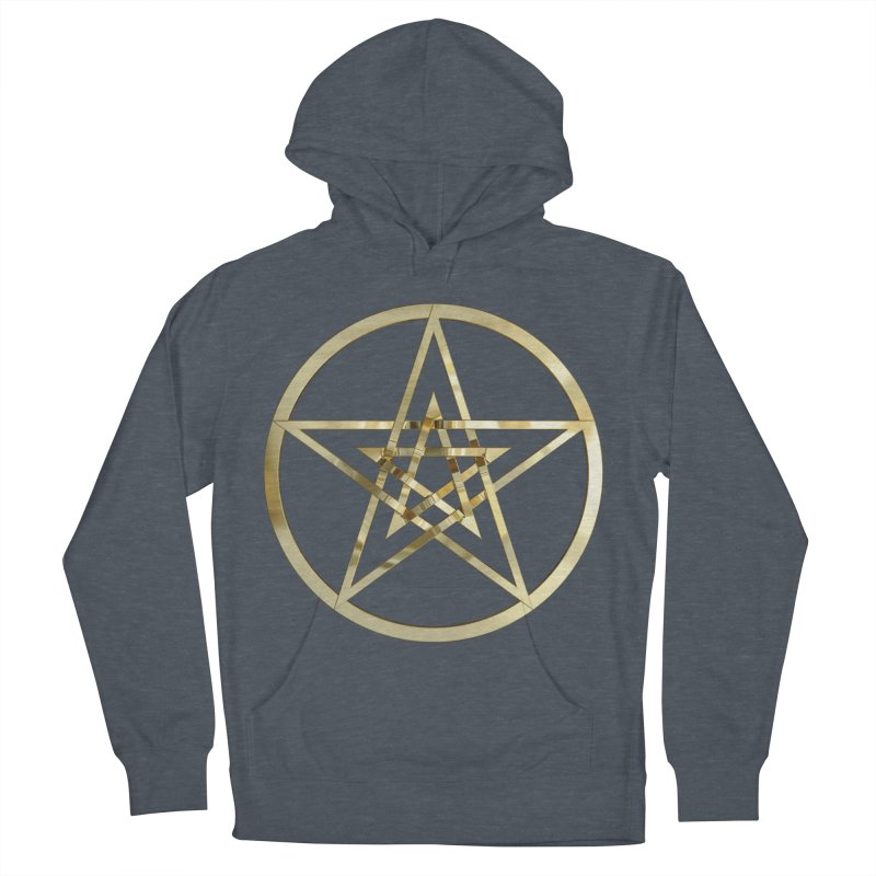 Double Pentacles Gold Men's Pullover Hoody by diamondheart's Artist Shop