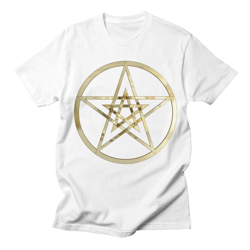 Double Pentacles Gold Women's Regular Unisex T-Shirt by diamondheart's Artist Shop