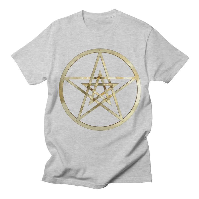 Double Pentacles Gold Women's Regular Unisex T-Shirt by diamondheart's Artist Shop