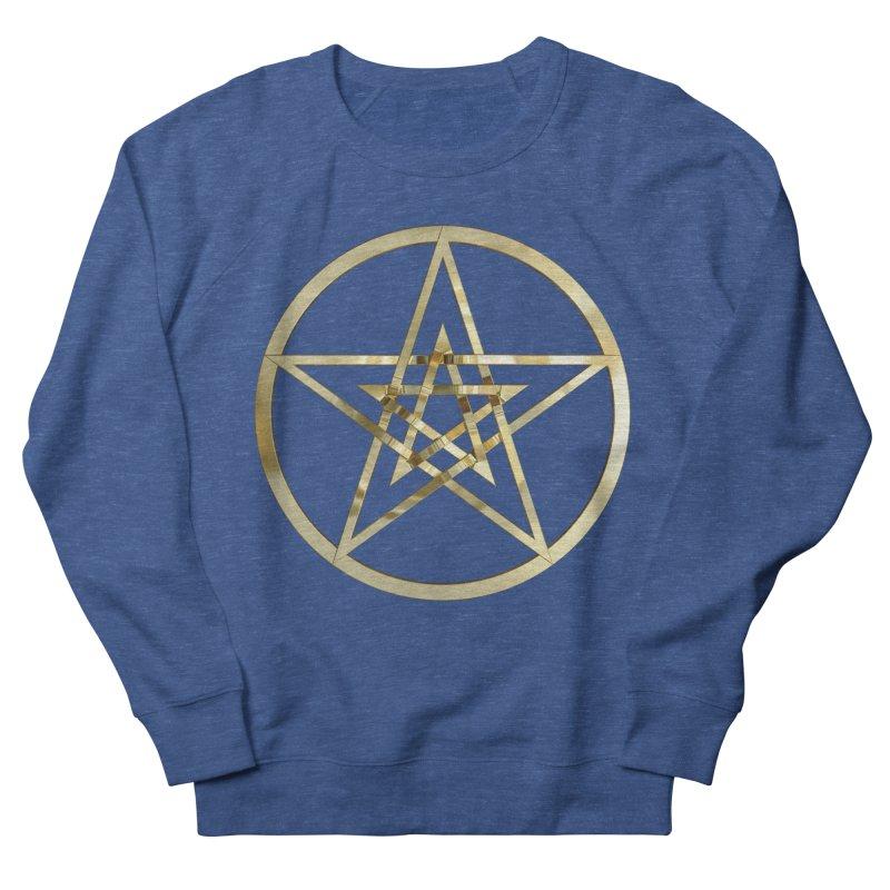Double Pentacles Gold Women's French Terry Sweatshirt by diamondheart's Artist Shop