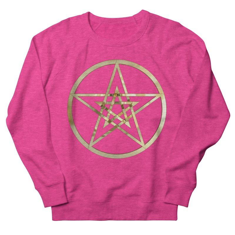 Double Pentacles Gold Women's French Terry Sweatshirt by diamondheart's Artist Shop