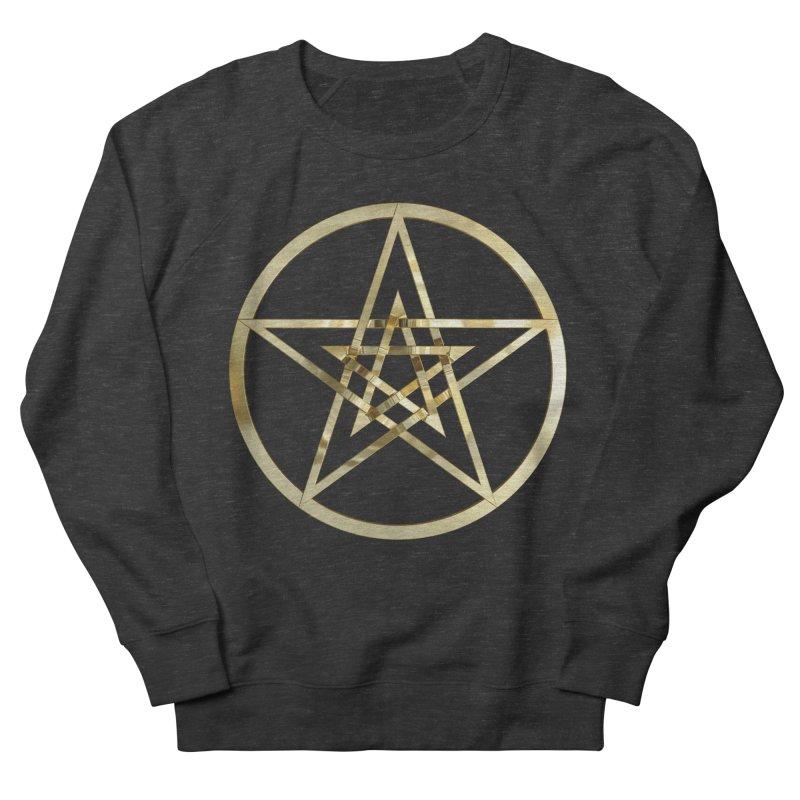 Double Pentacles Gold Men's French Terry Sweatshirt by diamondheart's Artist Shop