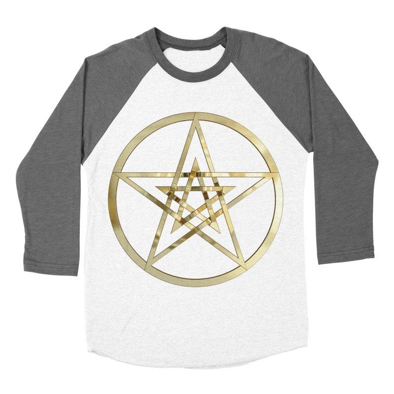Double Pentacles Gold Women's Longsleeve T-Shirt by diamondheart's Artist Shop