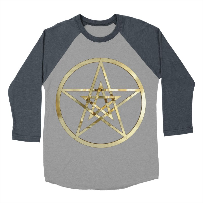 Double Pentacles Gold Women's Baseball Triblend Longsleeve T-Shirt by diamondheart's Artist Shop