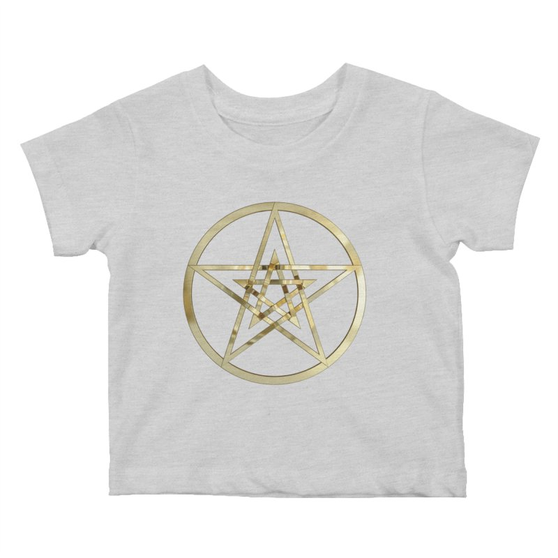 Double Pentacles Gold Kids Baby T-Shirt by diamondheart's Artist Shop