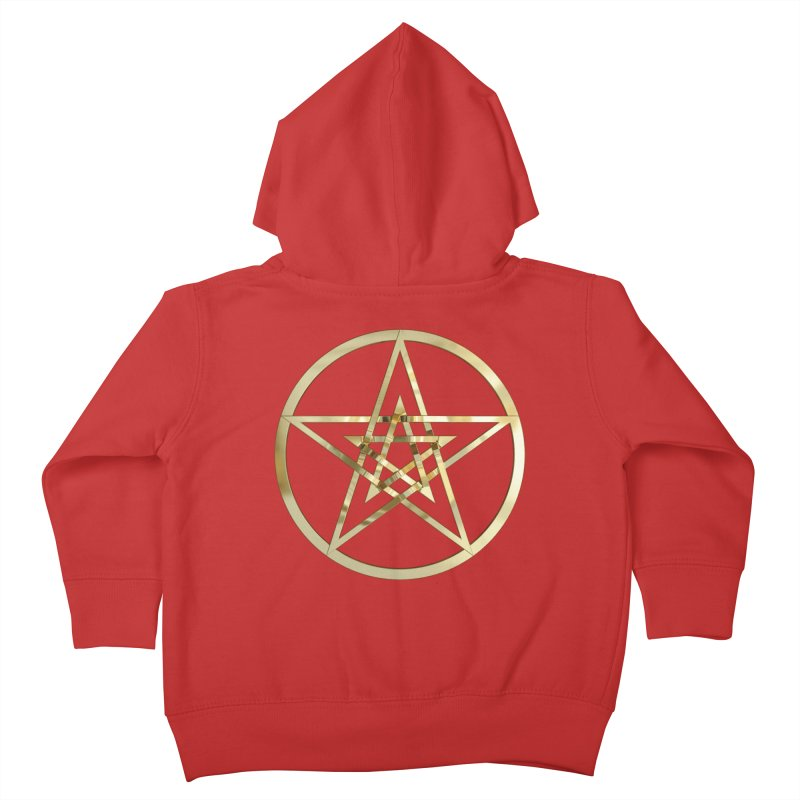 Double Pentacles Gold Kids Toddler Zip-Up Hoody by diamondheart's Artist Shop
