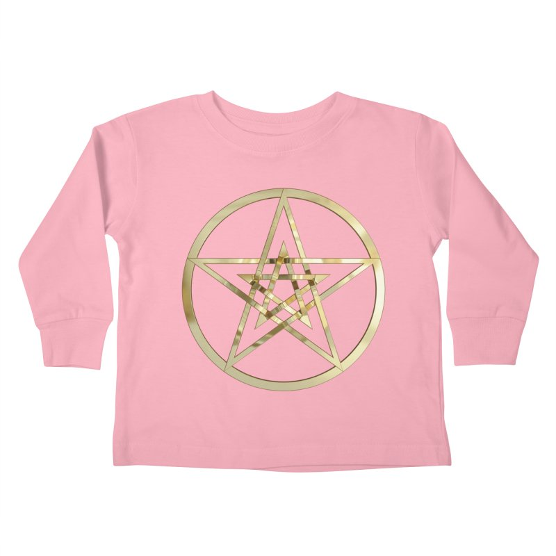 Double Pentacles Gold Kids Toddler Longsleeve T-Shirt by diamondheart's Artist Shop