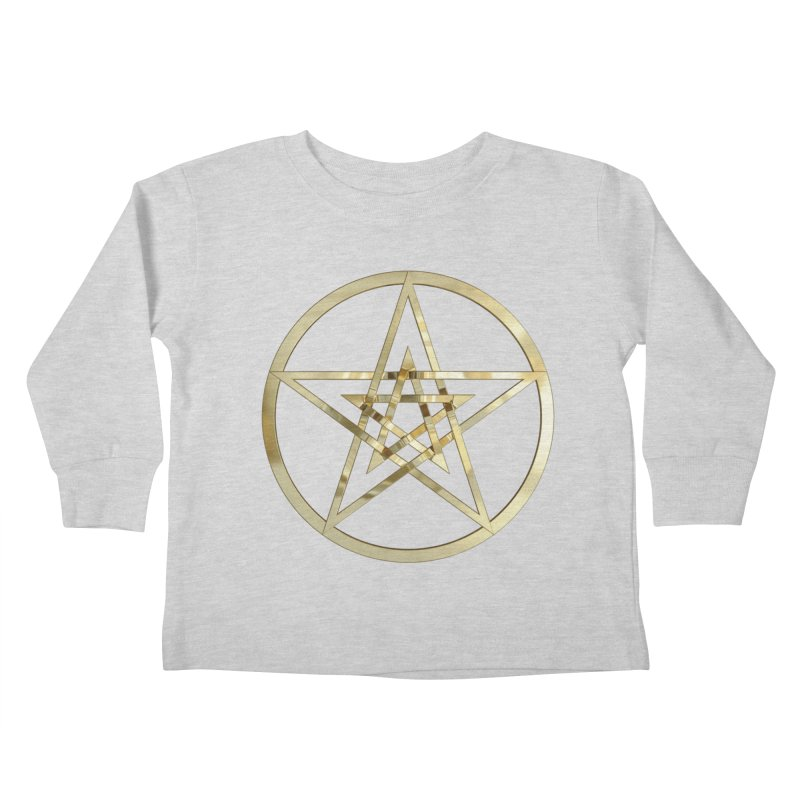 Double Pentacles Gold Kids Toddler Longsleeve T-Shirt by diamondheart's Artist Shop