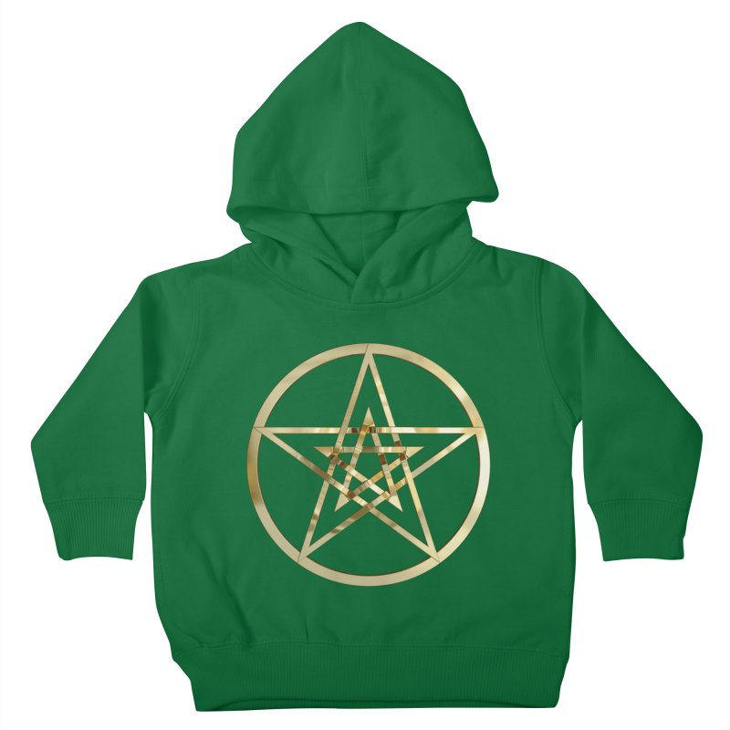 Double Pentacles Gold Kids Toddler Pullover Hoody by diamondheart's Artist Shop
