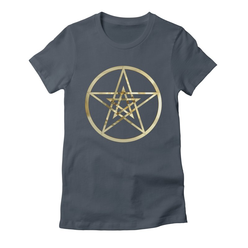 Double Pentacles Gold Women's T-Shirt by diamondheart's Artist Shop