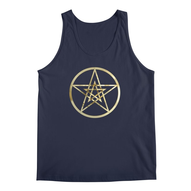 Double Pentacles Gold Men's Regular Tank by diamondheart's Artist Shop