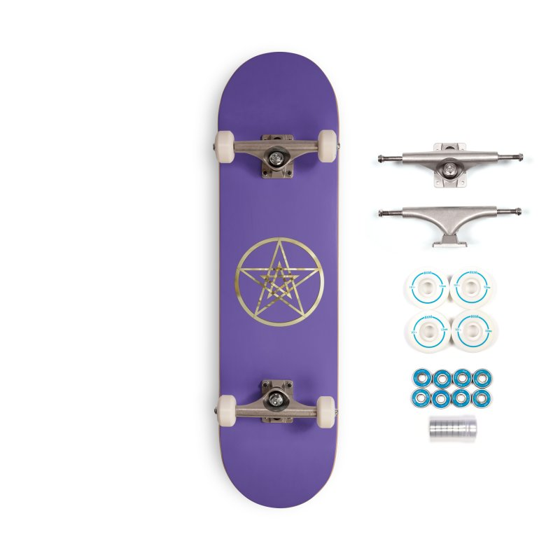 Double Pentacles Gold Accessories Complete - Basic Skateboard by diamondheart's Artist Shop