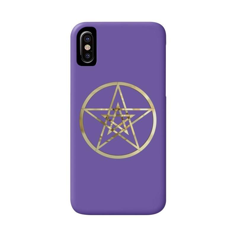 Double Pentacles Gold Accessories Phone Case by diamondheart's Artist Shop
